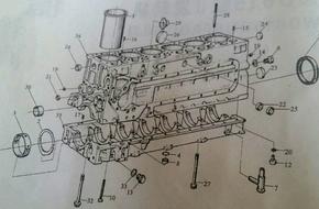 WD615 Блок дизельных цилиндров